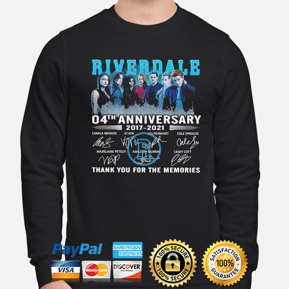 Official Riverdale 04th anniversary thank you for the memories signatures s sweater