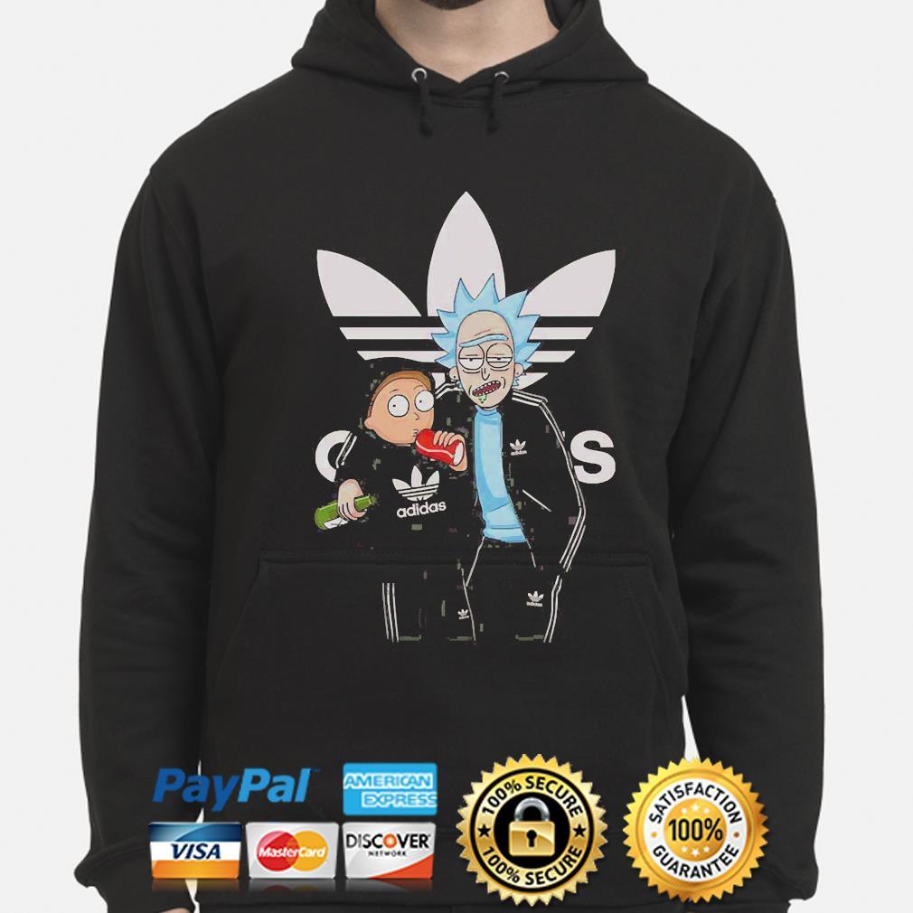 Rick and Morty adidas s hoodie