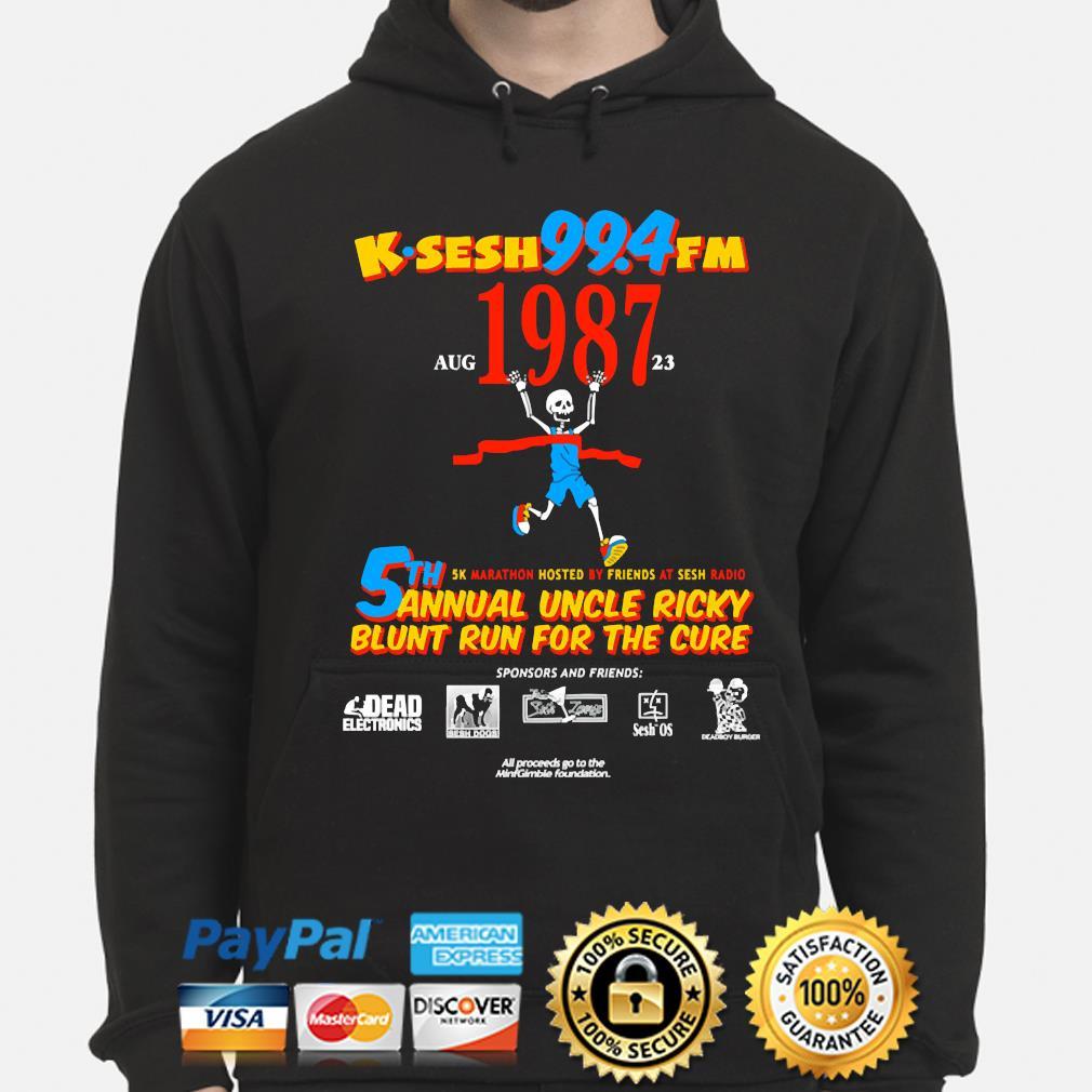 Team sesh annual blunt run for the cure from bones aka team sesh 2017 shirt rare k-sesh 1987 s hoodie