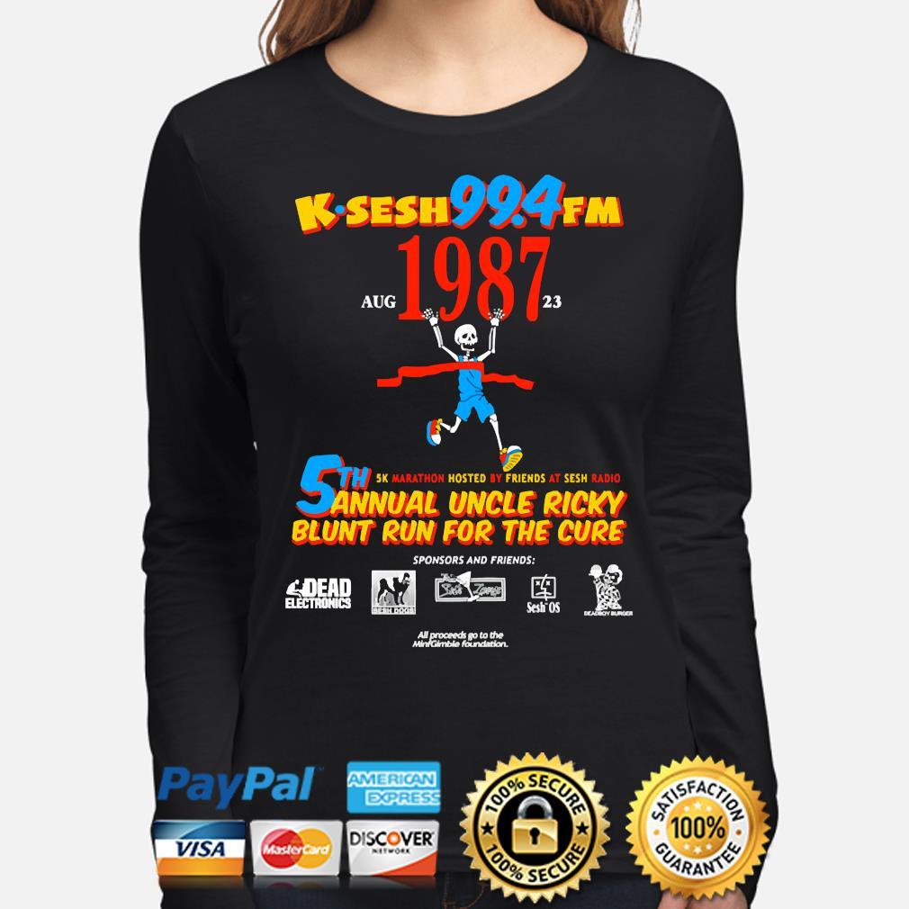 Team sesh annual blunt run for the cure from bones aka team sesh 2017 shirt rare k-sesh 1987 s long-sleeve