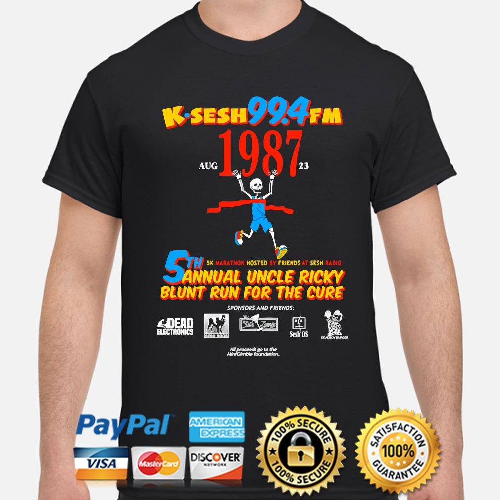 Team sesh annual blunt run for the cure from bones aka team sesh 2017 shirt rare k-sesh 1987 shirt