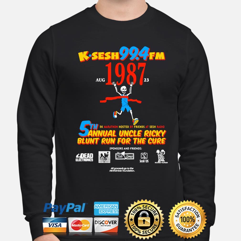 Team sesh annual blunt run for the cure from bones aka team sesh 2017 shirt rare k-sesh 1987 s sweater