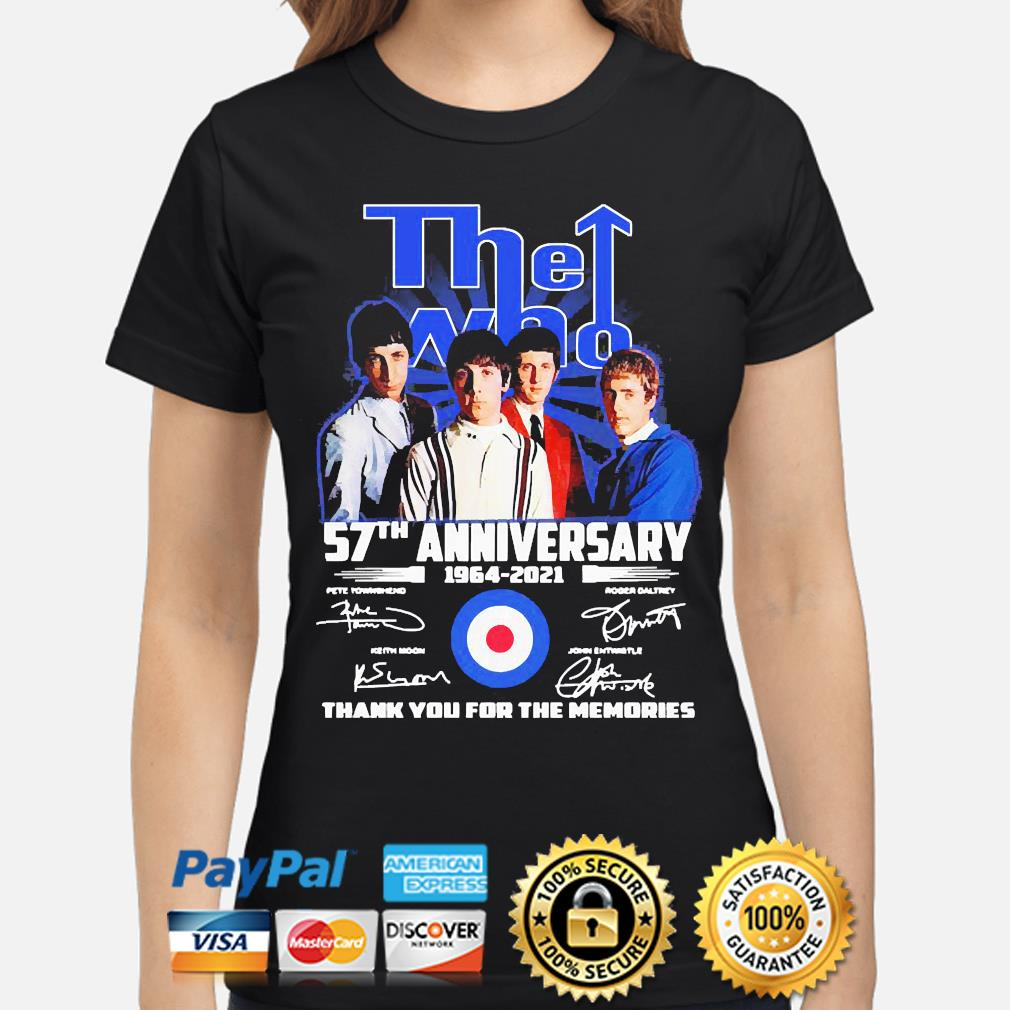 The Who 57th anniversary thank you for the memories signatures s ladies-shirt