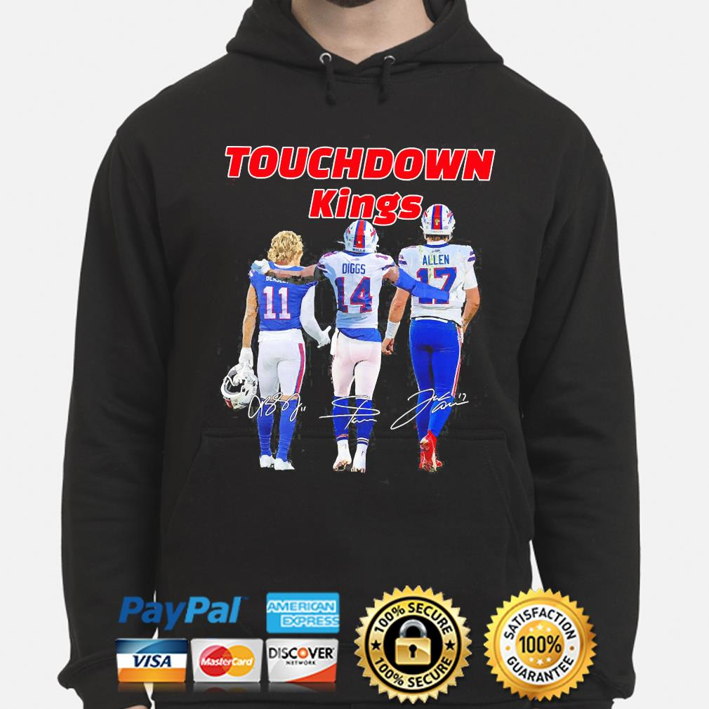 Touchdown Kings Buffalo Bills Beasley Diggs Allen signatures 2021 s hoodie