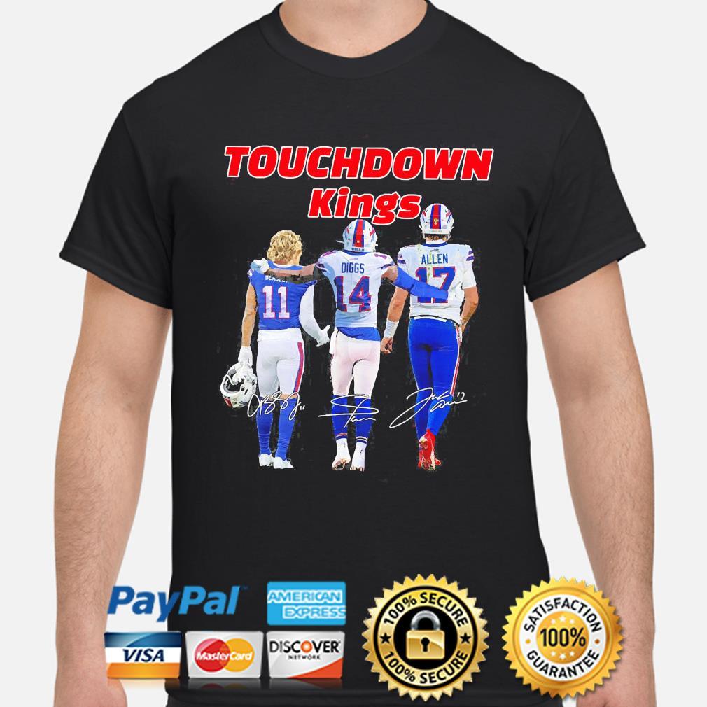 Touchdown Kings Buffalo Bills Beasley Diggs Allen signatures 2021 shirt