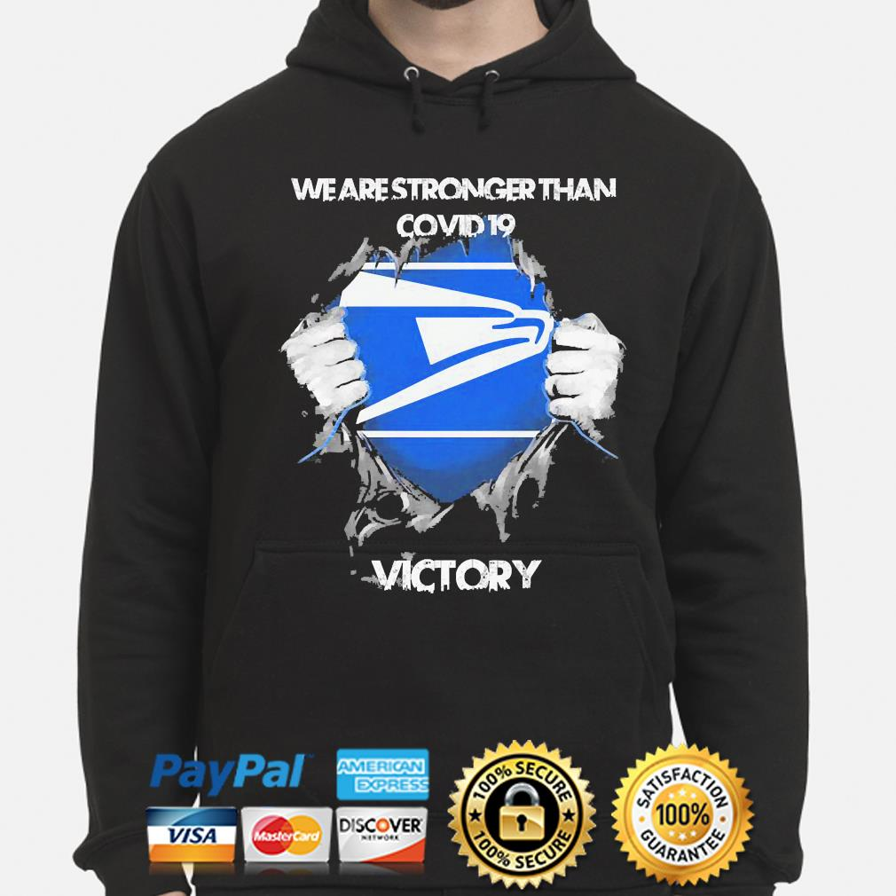 We are stronger than Covid 19 Victory s hoodie
